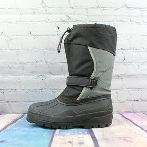 LL Bean Black Gray Snow Boots Size 5